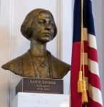 Bust of Lucy Stone located in Faneuil Hall