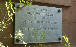 Julia Ward Howe Plaque at 241 Beacon Street