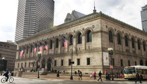 Boston Public Library in Copley Square
