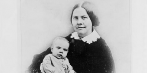 Lucy Stone with baby Alice
