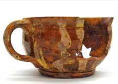 Stoneware pot made by Grace Hall Parker