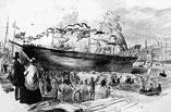 Shipbuilding in Boston harbor
