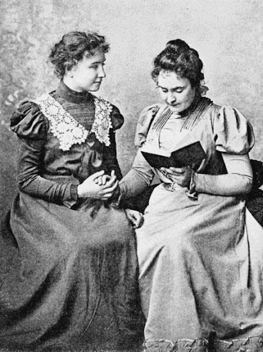 Helen Keller with Annie Sullivan Macy