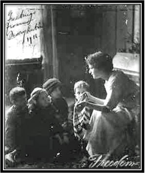 Mary Antin with children